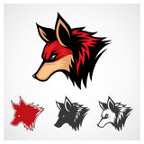 Vector Red Fox. Red fox head symbol template Stock Image