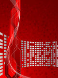 Vector red futuristic background Stock Photos