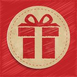 Vector gift icon Stock Image