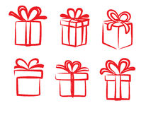 Vector red gift icon Royalty Free Stock Image