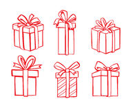 Vector red gift icon Stock Images