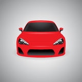 Vector red glossy sport car Stock Images