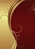 Vector Red and Gold background Royalty Free Stock Photo