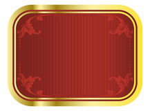 Vector red and gold beer tag Stock Image