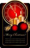 Christmas background. Vector red and gold christmas background Stock Photos