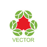 Vector red-green emblem, geometrical symbol or flower for decoration  ornament. Vector red-green emblem, geometrical symbol or flower for decoration or ornament Stock Photo