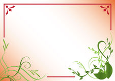 Vector red and green floral frame. Red and green floral frame vector illustration