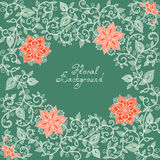 Vector red and green floral pattern Royalty Free Stock Photography