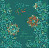Vector red and green floral pattern Royalty Free Stock Images