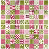 Vector red and green ornamental seamless backdrops set, geometri. C patterns collection. Ornate textures made in modern simple style royalty free illustration