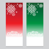Vector red green set background made of snowflakes with blank space for your text Cold Royalty Free Stock Photo