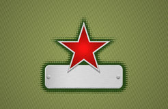 Vector red and green star frame Royalty Free Stock Image