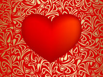 Vector red  heart Stock Photo