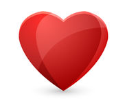 Vector red heart Stock Images