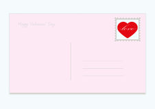 Vector red heart with envelope pink Royalty Free Stock Images