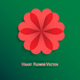 Vector red heart flower background Stock Photography