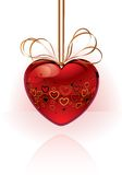 Vector Red Heart with graphic Stock Photography