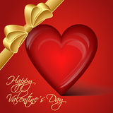 Vector red heart - Happy Valentine's Day Stock Image