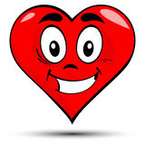Vector of red heart with smile Stock Photo