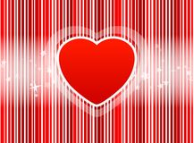 Vector Red Heart with stripes background Stock Photo