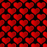 Vector Red Hearts Seamless Pattern. Stock Photos