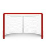 Vector red hockey goal, net. on white. Vector EPS10 illustration vector illustration