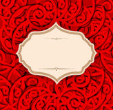 Vector red, holiday, vintage background Royalty Free Stock Photography