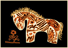 Vector red horse Stock Images