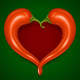 Vector Red Hot chilli pepper frame Stock Image