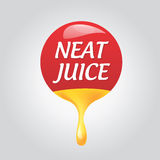 Icon natural taste. Vector red icon natural taste Stock Images