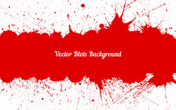 Vector red ink splashes with space for text over white Royalty Free Stock Photo