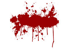 Vector red ink splatter background  with a space for your text. Royalty Free Stock Photography