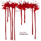 Vector red Ink stain, blots and splashes. Isolated paint drops, design elements. Red paint Stock Photos