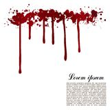 Vector red Ink stain, blots and splashes.  paint drops, design elements. Red paint Royalty Free Stock Photography