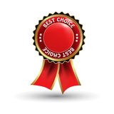 vector red  label - best choice Royalty Free Stock Image