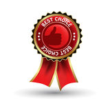 Vector red label - best choice Stock Image