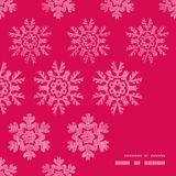 Vector red lace christmas snowflakes geometric Royalty Free Stock Image