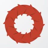 Vector red life cycle arrow diagram. 10 Steps. Stock Photos