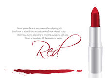 Vector red lipstick Royalty Free Stock Images