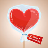 Vector. Red lollipop. Royalty Free Stock Photo