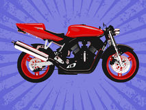Vector red motorcycle Royalty Free Stock Photo