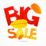 Vector Red and Orange Big Sale Sticker - Label Stock Photos