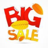 Vector Red and Orange Big Sale Sticker - Label Stock Photos