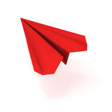 VECTOR red origami plane. Vector illustration of a red origami plane Royalty Free Stock Photography