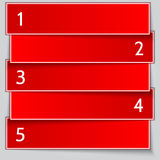 Vector red paper enumerated banner list Royalty Free Stock Photo
