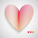 Vector Red Pattern with Heart on Center Royalty Free Stock Images
