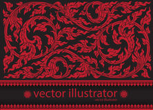 Vector red pattern thai tradition stylish Stock Images