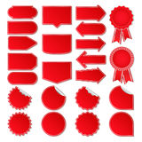 Vector Red Price Tags Royalty Free Stock Photography