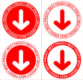 Vector red price tags, arrow Royalty Free Stock Photos