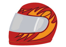 Vector red racing helmet Royalty Free Stock Images